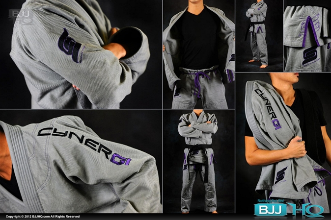 CynerGi Signature 450 Grey and Purple Jiu Jitsu Gi